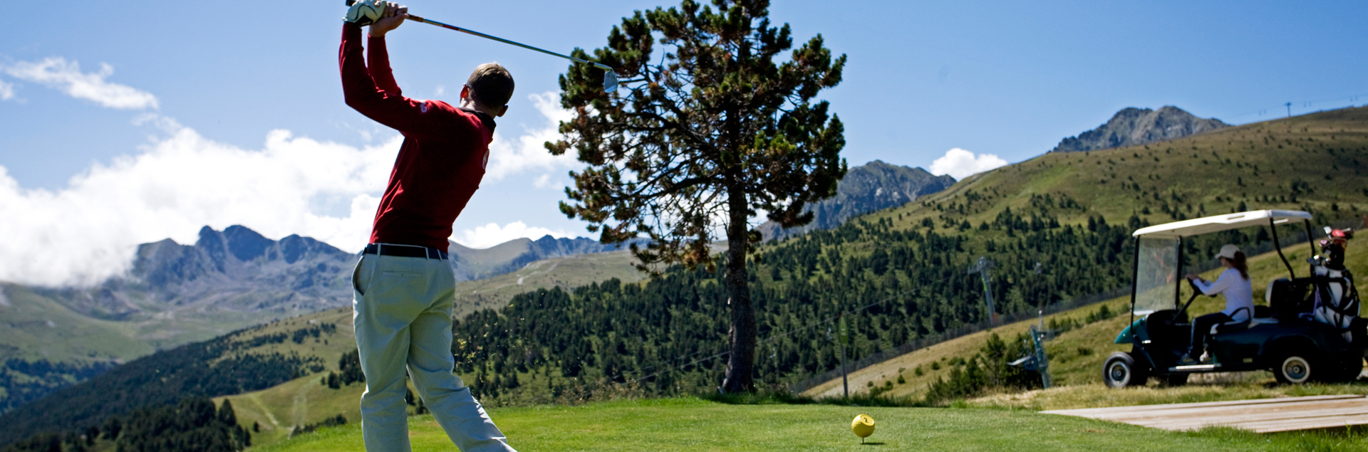 green fee, golf, 9 holes, Andorra, soldeu, hotel village, free, confort