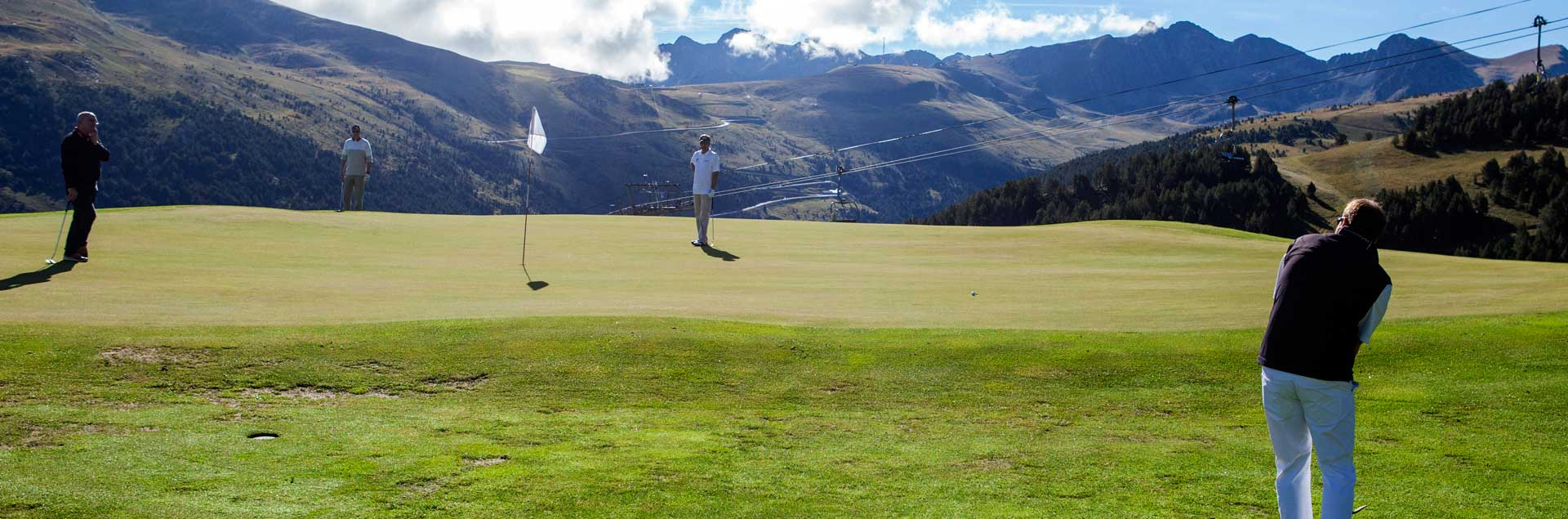 golf court in summer in Andorra